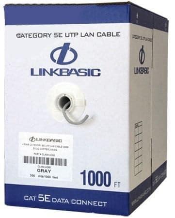 UTP Netwerk kabel Cat5e PVC 305m Grijs Linkbasic